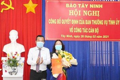 Bà Kim Thị Hạnh được bổ nhiệm làm Phó Tổng Biên tập Báo Tây Ninh