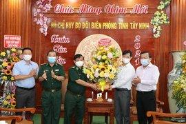 Lãnh đạo tỉnh thăm, chúc mừng Bộ đội Biên phòng tỉnh