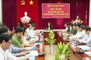 Ban Tuyên giáo Tỉnh uỷ: Tổ chức Hội nghị Báo cáo viên tháng 4.2021