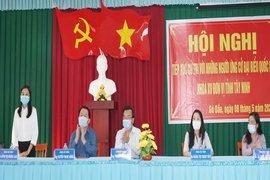 Trưởng Ban Tuyên giáo Trung ương tiếp xúc cử tri, vận động bầu cử tại Tây Ninh