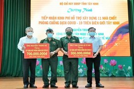 Biên phòng Tây Ninh: Tiếp nhận hơn 1 tỷ đồng xây dựng 11 nhà chốt phòng, chống dịch Covid-19 trên tuyến biên giới
