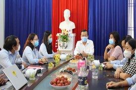 Phó Bí thư Thường trực Tỉnh uỷ Phạm Hùng Thái thăm, chúc mừng các cơ quan báo chí