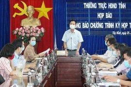 Họp báo về việc tổ chức kỳ họp thứ nhất HĐND tỉnh khóa X, nhiệm kỳ 2021-2026
