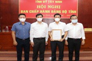 Đồng chí Nguyễn Mạnh Hùng giữ chức Phó Bí thư Tỉnh uỷ Tây Ninh