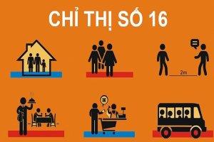Thực hiện nghiêm Chỉ thị số 16/CT-TTg của Thủ tướng Chính phủ về phòng, chống dịch COVID-19