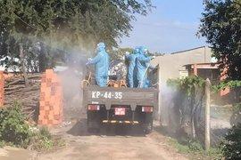 Bộ CHQS tỉnh: Cải tiến xe quân sự dùng để phun khử khuẩn