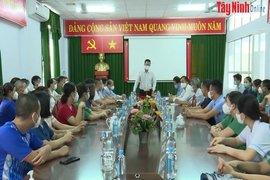 Đoàn công tác tỉnh Bắc Giang đến hỗ trợ Tây Ninh phòng chống dịch covid-19