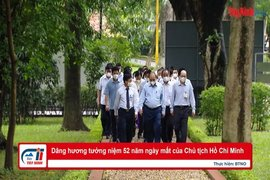 Dâng hương tưởng niệm 52 năm ngày mất của Chủ tịch Hồ Chí Minh