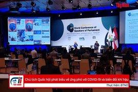 Chủ tịch Quốc hội phát biểu về ứng phó với COVID-19 và biến đổi khí hậu