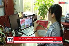 Tiết học trực tuyến không kéo dài như học trực tiếp
