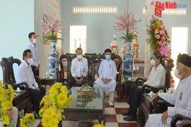 Lãnh đạo tỉnh thăm, chúc mừng các tổ chức tôn giáo Cao Đài
