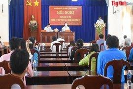 Đoàn Đại biểu Quốc hội tiếp xúc cử tri huyện Dương Minh Châu