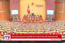 Quốc hội thảo luận dự án Luật Điện ảnh và Luật Thi đua, khen thưởng (sửa đổi)