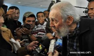 Cựu Chủ tịch Fidel Castro đi bỏ phiếu bầu cử Quốc hội Cuba