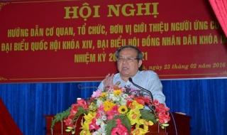 UB.MTTQVN tỉnh Tây Ninh: Hướng dẫn giới thiệu người ứng cử đại biểu Quốc hội và HĐND tỉnh