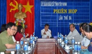 Uỷ ban Bầu cử tỉnh Tây Ninh họp phiên thứ ba