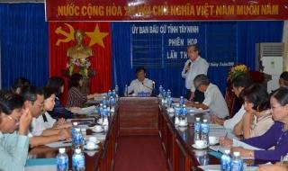Uỷ ban Bầu cử tỉnh họp phiên thứ 5
