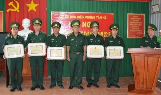 Đồn biên phòng Tân Hà: Học tập và làm theo Bác để phục vụ nhân dân tốt hơn