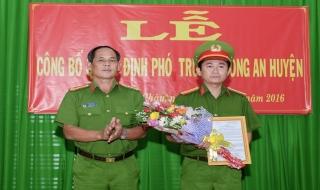Bổ nhiệm Phó trưởng Công an Tân Châu