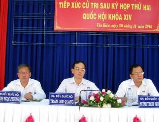 Đoàn ĐBQH đơn vị tỉnh Tây Ninh tiếp xúc cử tri các huyện Tân Biên, Tân Châu