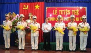 Thành lập Đội CSĐT tội phạm về ma tuý huyện Tân Biên