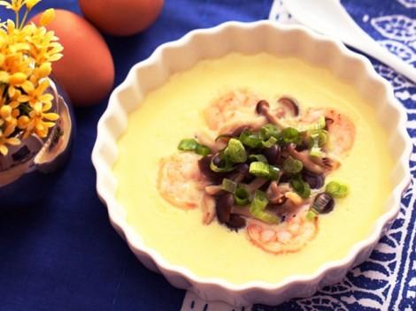 Trứng hấp tôm nấm dễ làm mà bổ dưỡng