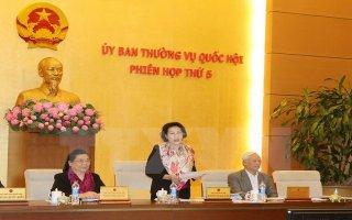 Ủy ban Thường vụ Quốc hội cho ý kiến về hàng loạt dự án Luật