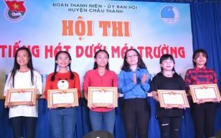 """Chung kết Hội thi """"Tiếng hát dưới mái trường"""" huyện Châu Thành"""