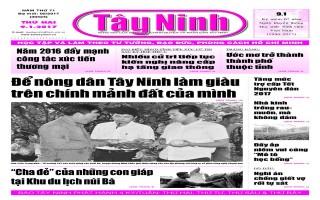 Điểm báo in Tây Ninh ngày 09.01.2017