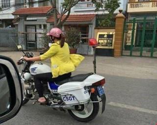 Xác định danh tính cô gái lái xe đặc chủng của CSGT