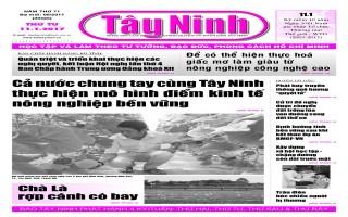 Điểm báo in Tây Ninh ngày 11.01.2017