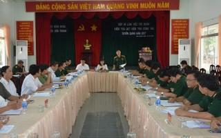 Quân khu 7: Kiểm tra công tác tuyển quân tại Tây Ninh