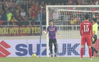 Nguyên Mạnh bị treo giò hai trận, phạt 1000USD vì thẻ đỏ AFF Cup 2016