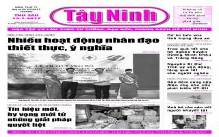 Điểm báo in Tây Ninh ngày 13.01.2017
