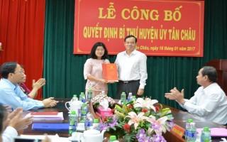Tỉnh uỷ Tây Ninh: Công bố quyết định điều động và luân chuyển Bí thư Huyện ủy Tân Châu