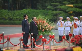 Lễ đón Thủ tướng Shinzo Abe tại Hà Nội