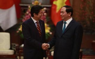 Chủ tịch nước, Chủ tịch Quốc hội tiếp Thủ tướng Nhật Bản Shinzo Abe