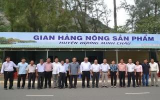 Khai trương gian hàng nông sản phẩm huyện Dương Minh Châu