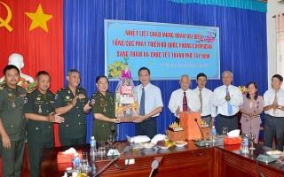 Cục Phát triển Bộ Quốc phòng Vương quốc Campuchia chúc tết thành phố Tây Ninh