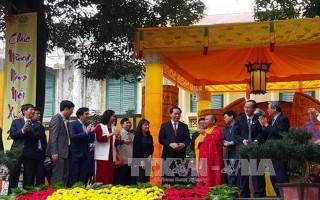 Chủ tịch nước Trần Đại Quang dâng hương khai xuân tại Hoàng thành Thăng Long
