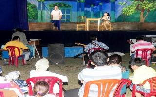 Biểu diễn lân sư rồng và phục vụ cải lương tại Khu du lịch Núi Bà Đen