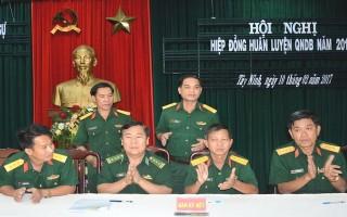 Bộ CHQS Tây Ninh: Hiệp đồng huấn luyện quân nhân dự bị năm 2017