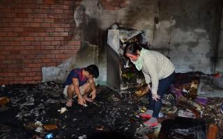 Cháy nhà dân ở huyện Dương Minh Châu