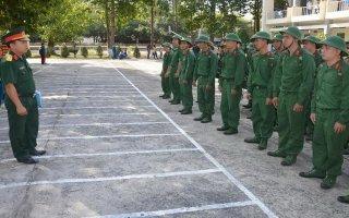 Trường Quân sự Tây Ninh tiếp nhận huấn luyện gần 500 tân binh