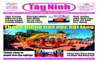 Điểm báo in Tây Ninh ngày 18.02.2017