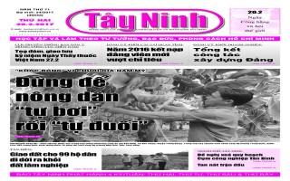 Điểm báo in Tây Ninh ngày 20.02.2017