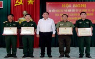 Bến Cầu: Sơ kết công tác phối hợp giữa 3 lực lượng Công an, Quân sự, Biên phòng