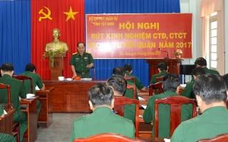 Bộ CHQS Tây Ninh: Rút kinh nghiệm công tác Đảng, công tác chính trị trong tuyển quân năm 2017