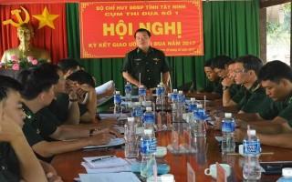 Cụm thi đua số 1 thuộc BĐBP tỉnh Tây Ninh  ký kết giao ước thi đua năm 2017
