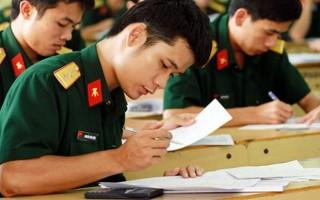 Thí sinh cần lưu ý khi xét tuyển vào các trường đại học quân đội